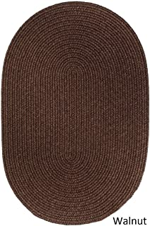 product image for Rhody Rug Woolux Wool Oval Braided Rug (5' x 8') - 5' x 8' Oval Walnut