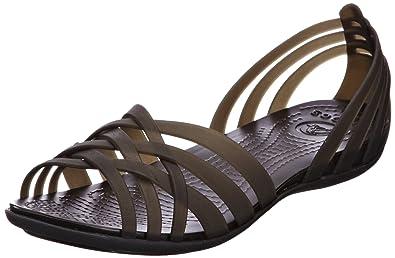 1266a738e Crocs Huarache Flat Women s Sandals - Black (Black Black)