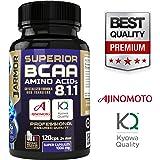 J.Armor Integratore Superior BCAA 8.1.1 | 120 Capsule a Rilascio Istantaneo | Aminoacidi Ramificati con Vitamina B6 | Trasferimento Cristallizzato Elevato | Qualità Professionale Garantita | 1000mg