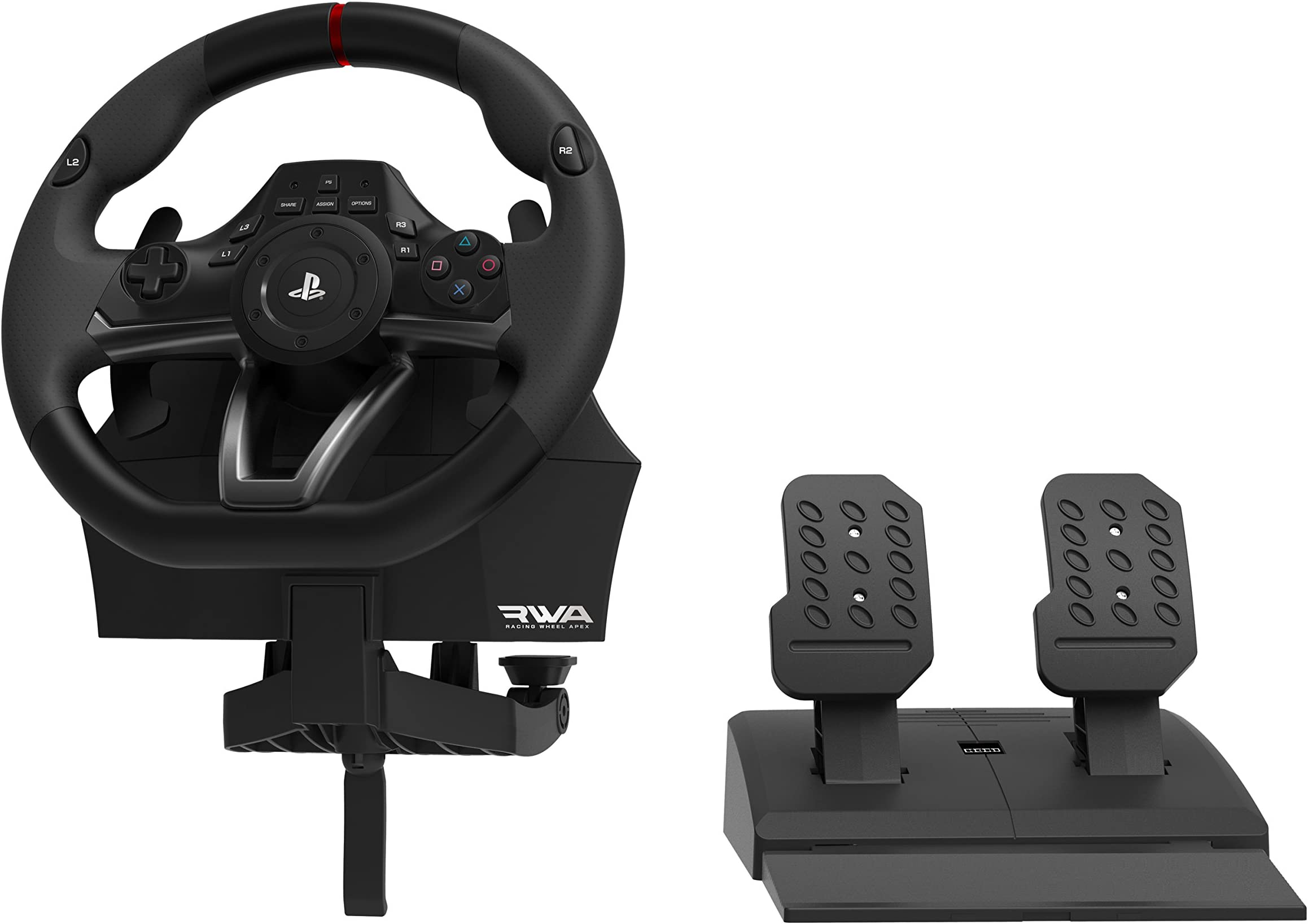 amazon com hori racing wheel apex for playstation 4 3 and pc