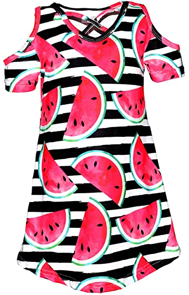 1a1878a7c Amazon.com  Unique Baby Girls Spring Summer Watermelon Dress  Clothing
