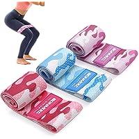 BONMIXC Fitnessbanden, set van 3 weerstandsbanden, krachttraining, booty banden, loopband met 3 weerstandsniveaus voor…