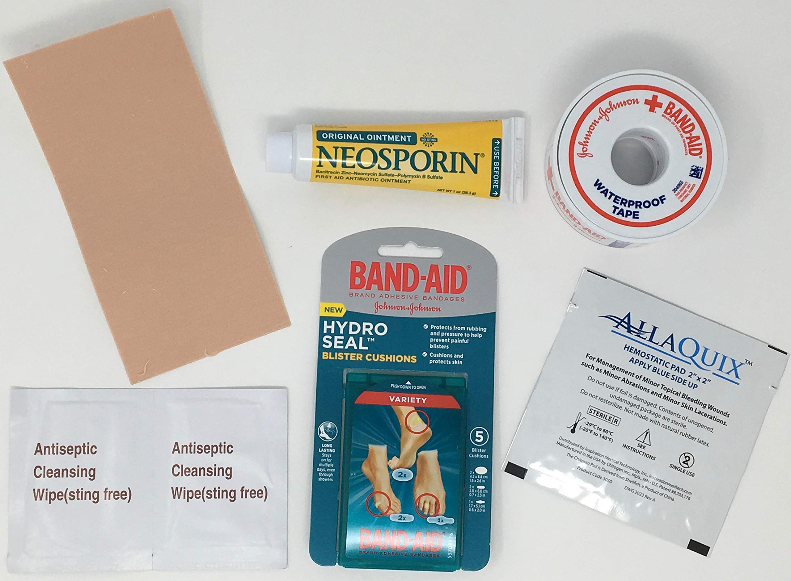Blister Care Pack (Contains Blister Bandages, Moleskin, Antibiotic Ointment, AllaQuix, and Much More)