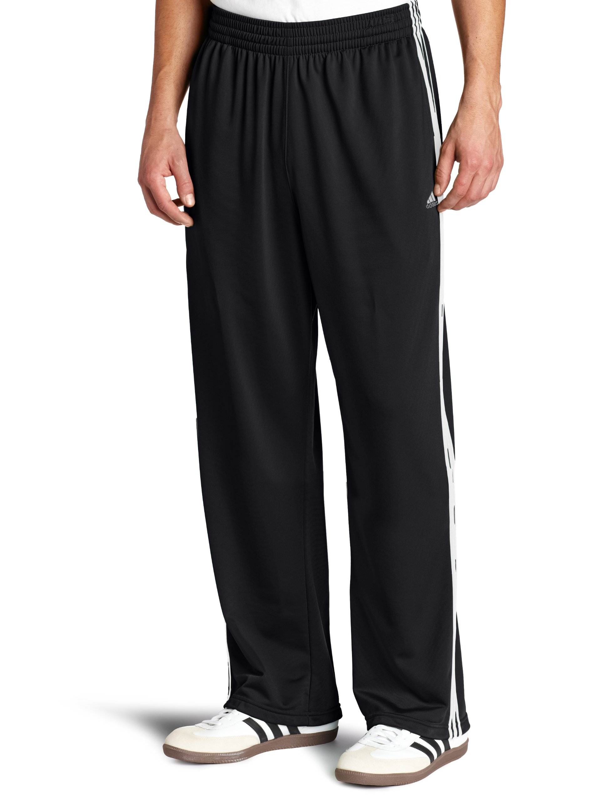 adidas Men's 3-Stripe Pant, Black/White, Small