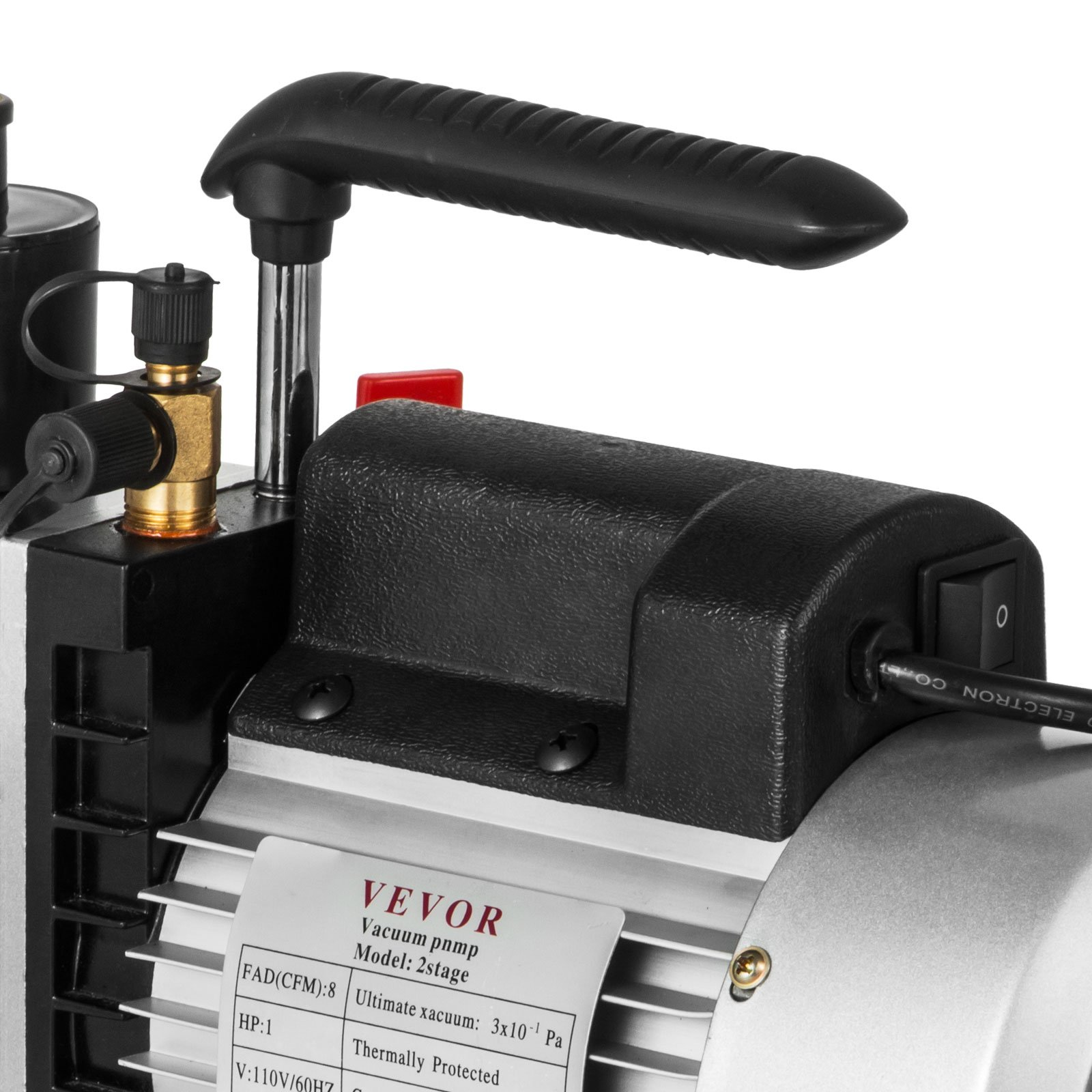 VEVOR Vacuum Pump 8CFM 1HP Two Stage HVAC Rotary Vane Vacuum Pump Wine Degassing Milking Medical Food Processing Air Conditioning Auto AC Refrigerant Vacuum Pump (2-Stage, 8CFM) by VEVOR (Image #10)