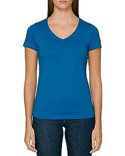 Everbasics – Camiseta de cuello redondo para mujer de algodón ...