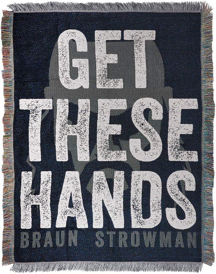 WWE Braun Strowman Get These Hands Throw Blanket