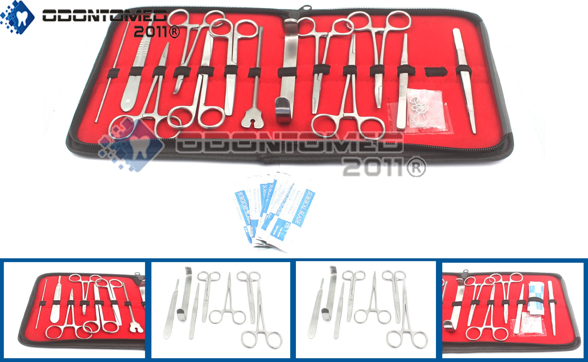 OdontoMed2011 20 PCS ADVANCED BIOLOGY LAB ANATOMY STUDENT DISSECTING DISSECTION KIT SET WITH SCALPEL KNIFE HANDLE BLADES ODM by ODONTOMED