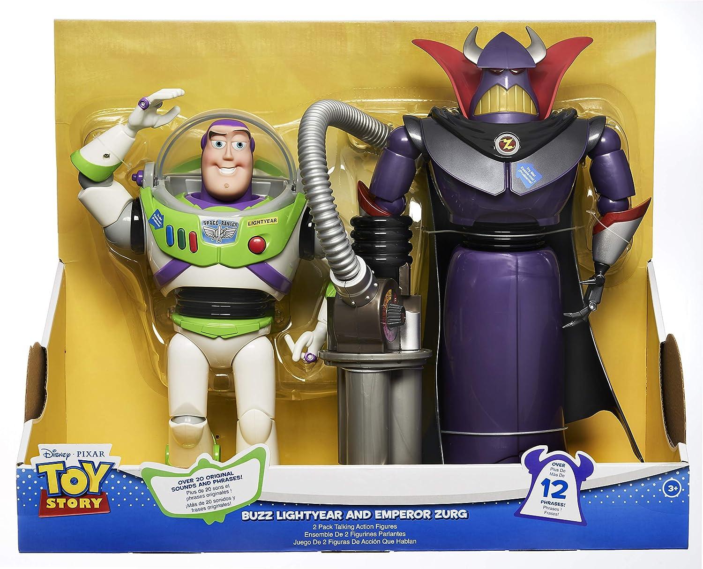 Disney Pixar Toy Story Exclusive 12 Inch Talking Action Figure 2 Pack Zurg Buzz Lightyear
