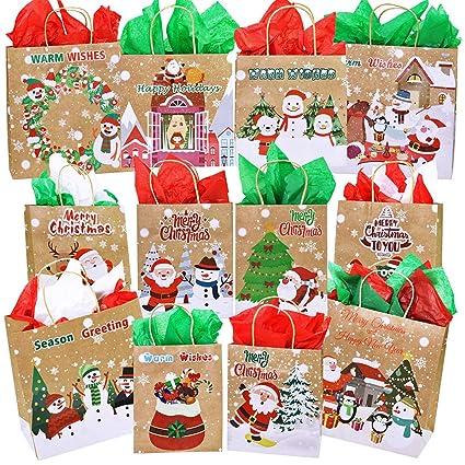 Amazon.com: Supla - Bolsas de regalo de Navidad de 3 tamaños ...