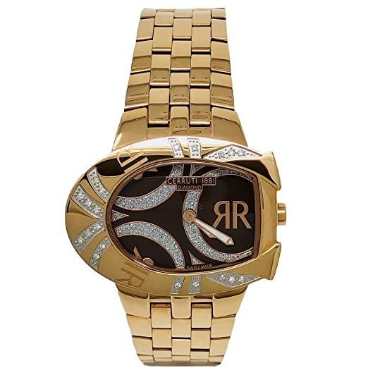 Armbanduhr Mm Diamant Damen X 28 32 1881 Cerruti Gold Rose NPnOkX80w
