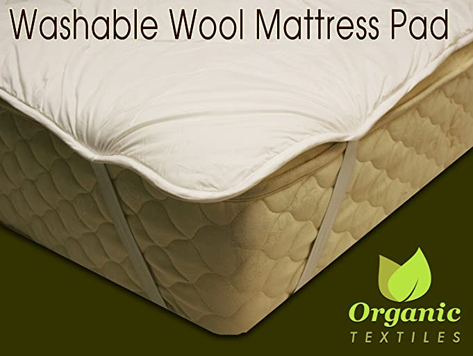 amazoncom wool mattress pad with organic cotton covering queen home u0026 kitchen