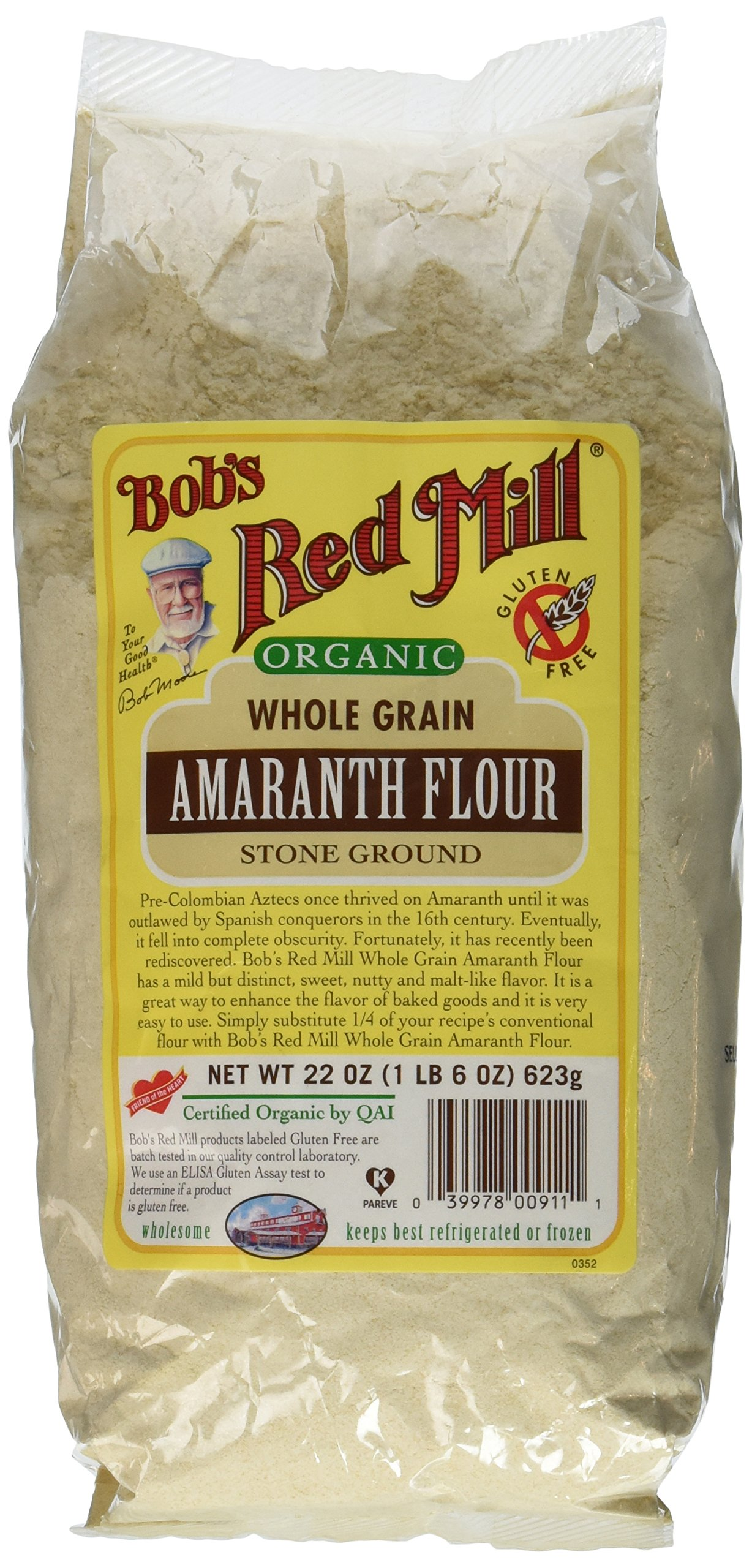 Bob's Red Mill Flour, Amaranth, Organic, 22-Ounce