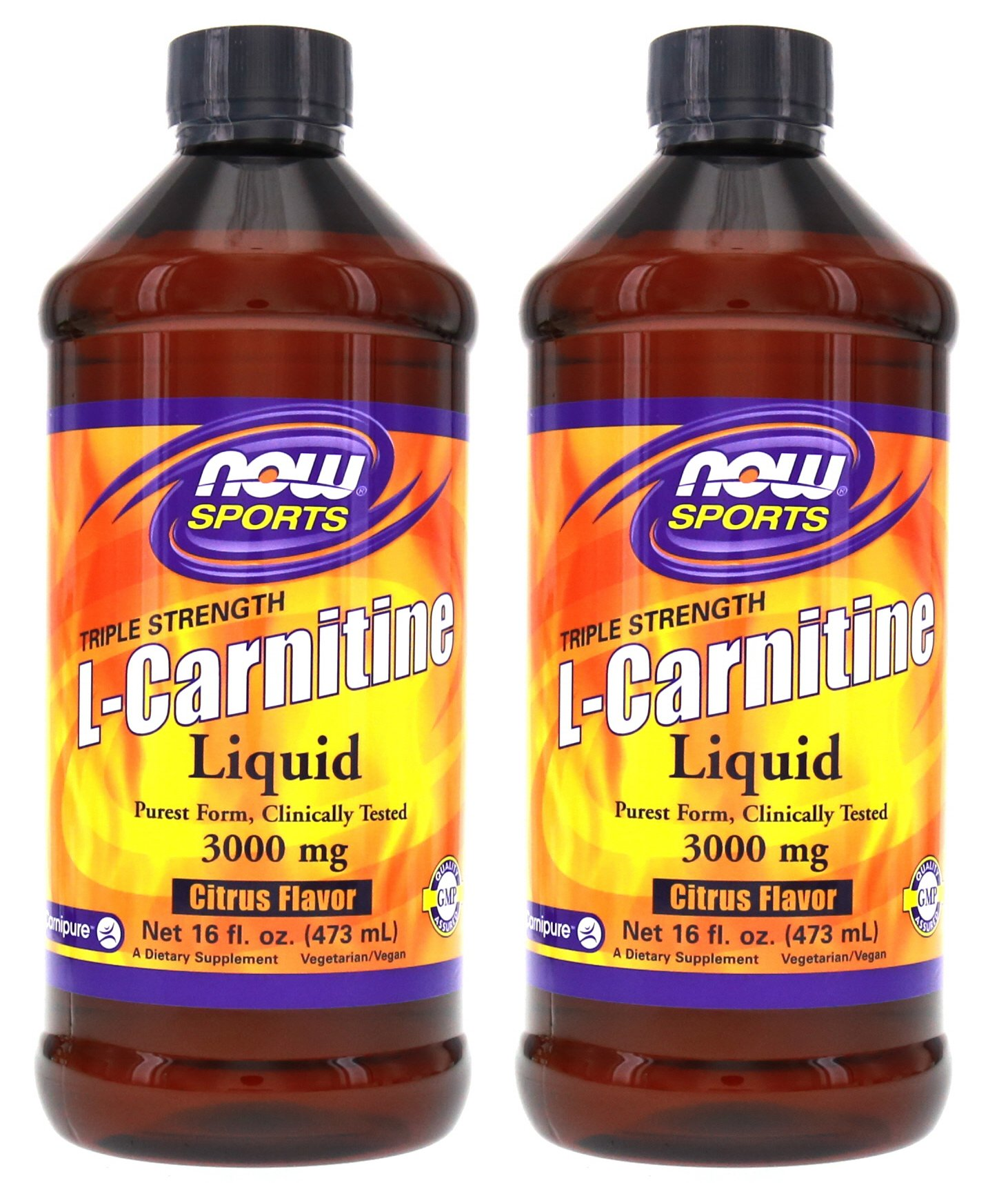 Now Foods L-Carnitine Liquid 3000 mg - 16 oz.. 2 Pack by NOW Foods