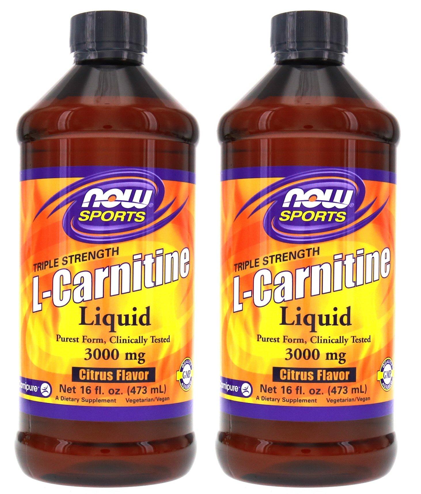 Now Foods L-Carnitine Liquid 3000 mg - 16 oz.. 2 Pack