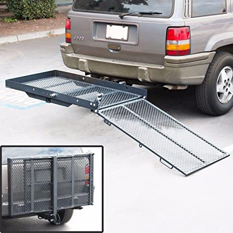 Amazon.com: Folding Wheelchair Scooter Carrier Rack Disability Medical Lift Rack Ramp Hitch Mount: Health & Personal Care