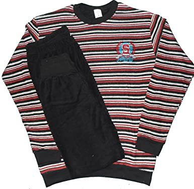 d3656a8ad231aa Herren Frottee Winter Pyjama, Schlafanzug, Gr. L (52-54), rot ...