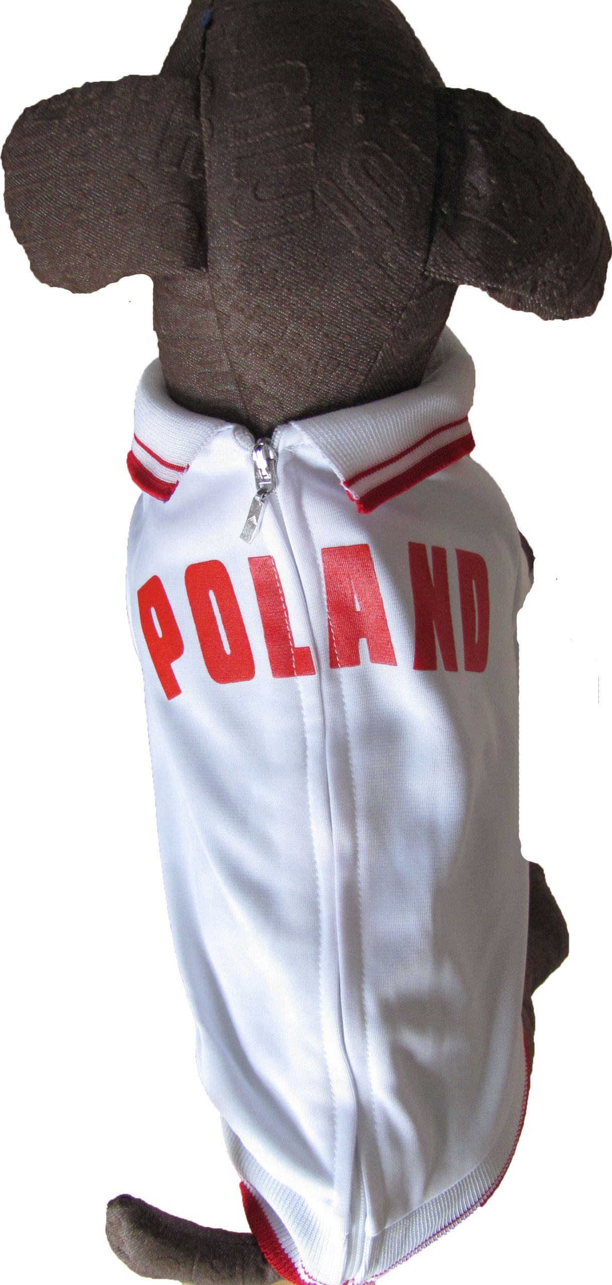 The Mutley Collection Poland Olympic Soccer Warm-Up Track Jacket for Dogs, Small by The Mutley Collection (Image #2)