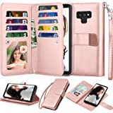 Njjex For Galaxy Note 9 Wallet Case, For Note 9 Case, Luxury PU Leather [9 Card Slots] ID Credit Folio Flip Cover [Detachable