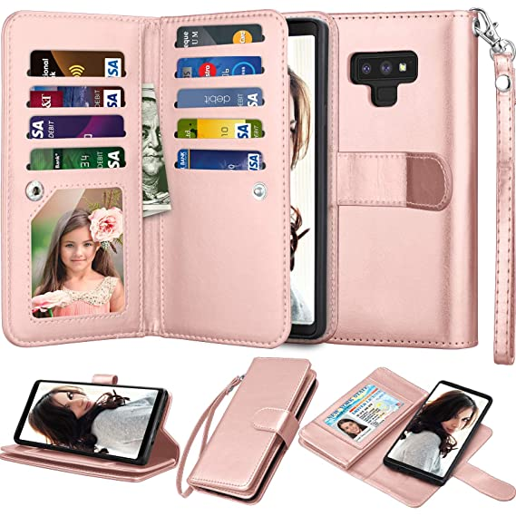 a45020613f93 Amazon.com: Njjex For Galaxy Note 9 Wallet Case, For Note 9 Case ...