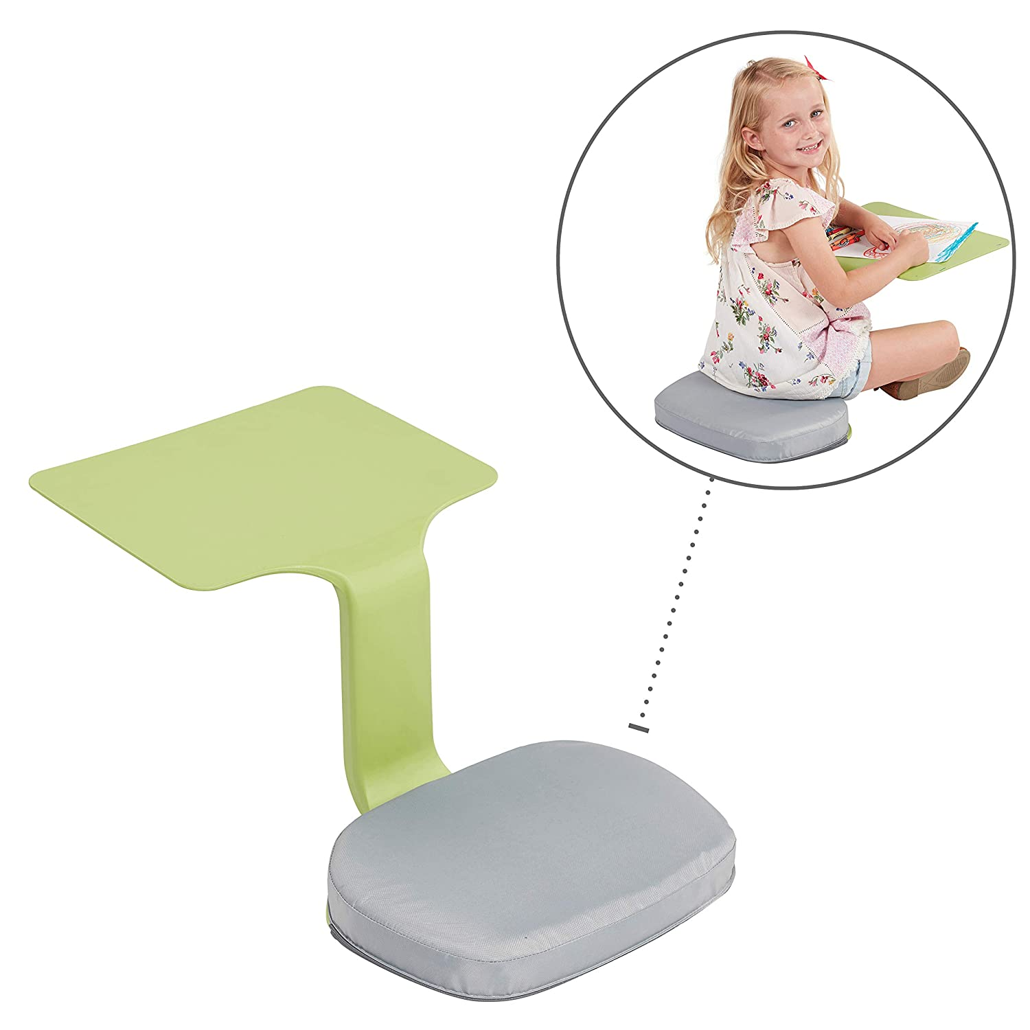 ECR4Kids Surf Cushion – Added Seat Cushion for The Surf Portable Lap Desk Laptop Stand Writing Table, Gray, Grey