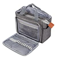 Luxja häkeln Einkaufstasche, tragbare Garn Aufbewahrungstasche für kleine unvollendete Projekte, Häkelnadeln und anderes Zubehör (kein Zubehör enthalten)