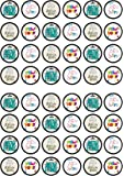 48 New Home Edible PREMIUM THICKNESS SWEETENED VANILLA, Wafer Rice Paper Mini Cupcake Toppers, Cake Pops, Cookies