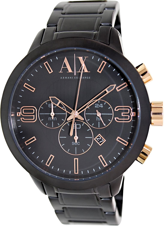 319dc2709ccd Armani Exchange Men s AX1350 Black Stainless-Steel Quartz Watch  Armani  Exchange  Amazon.ca  Watches