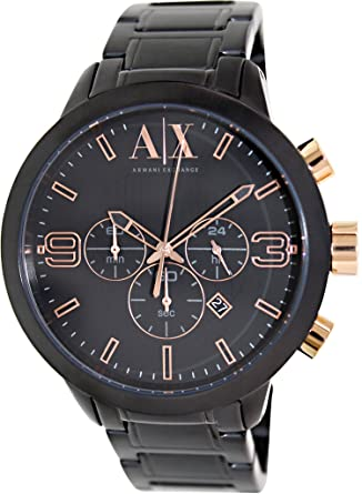 efd6f589956 Image Unavailable. Image not available for. Color  Armani Exchange Atlc  Chronograph Black Dial Black Ion-plated Mens Watch AX1350