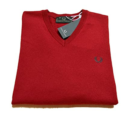 Fred Perry Camiseta Hombre Men Made In Italy Lana 100% Wool Jersey ...