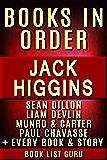 Jack Higgins Books in Order: Sean Dillon series, Liam Devlin series, Munro & Carter, Paul Chavasse, Martin Fallon, Nick…