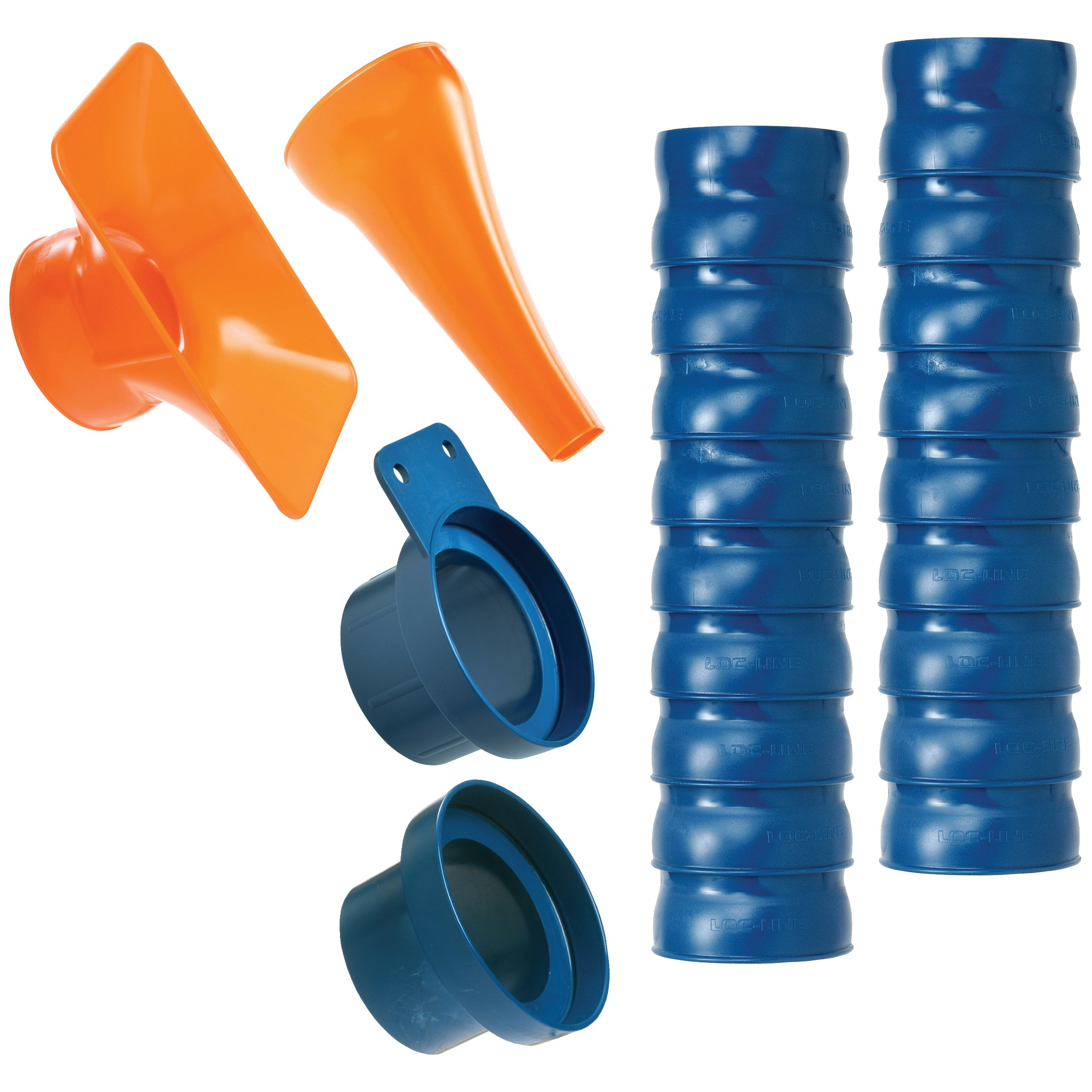 Loc-Line 80813 Shop Vacuum Kit, 2.5'', Blue/Orange by Loc-Line