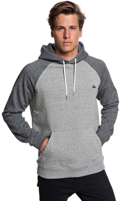 Quiksilver Men's Everyday Hood Fleece Hoodie Jacket, Dark Grey Heather, L
