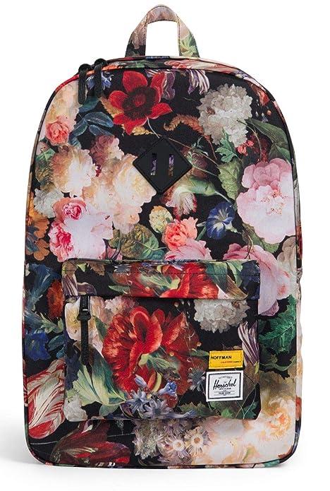 Mochila Mujer Herschel Heritage - Hoffman Collection - 21.5 Litre Fall Floral (Default, Negro
