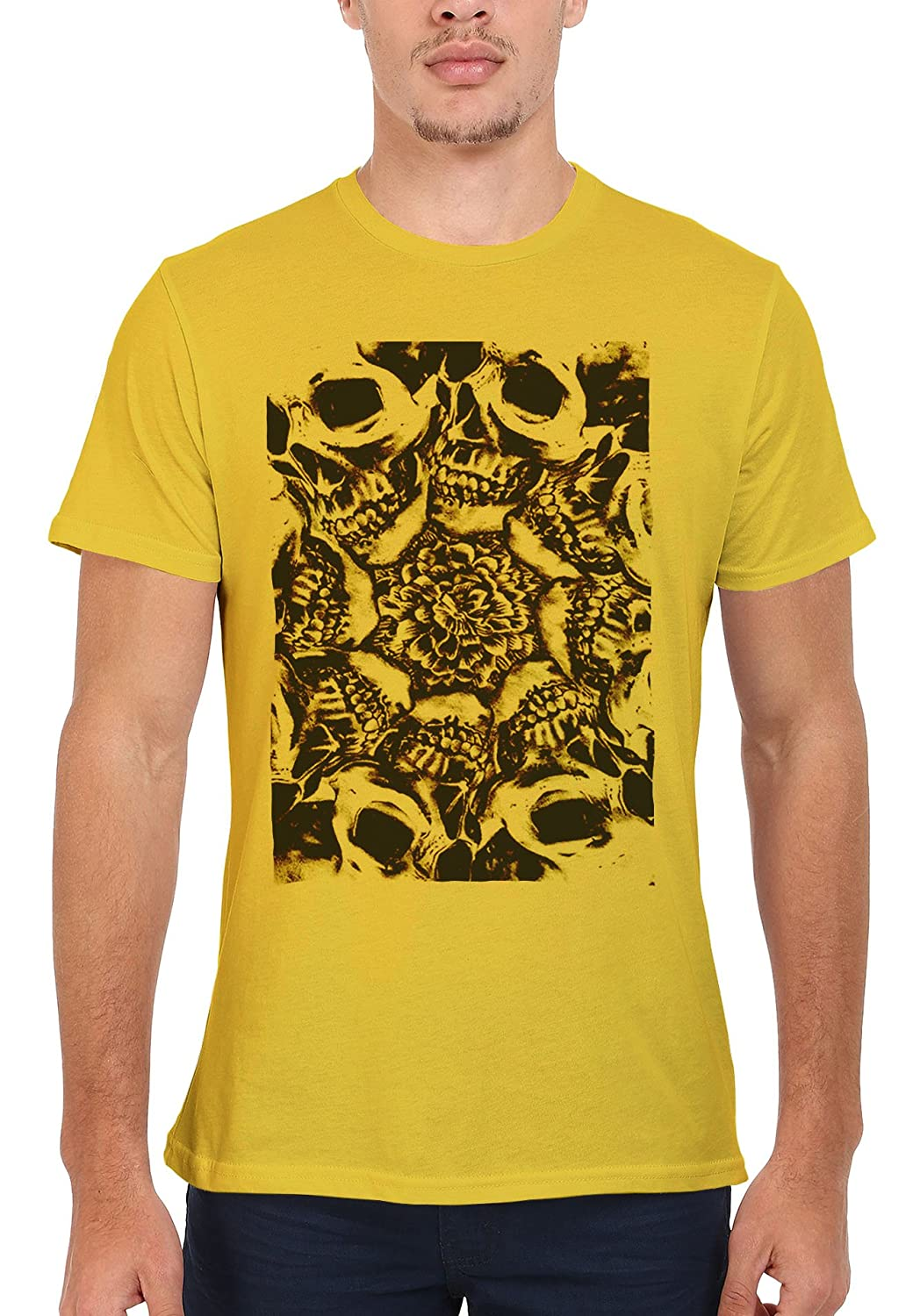 Floral Skull Horror Men Women Damen Herren Unisex Top T Shirt: Amazon.de:  Bekleidung
