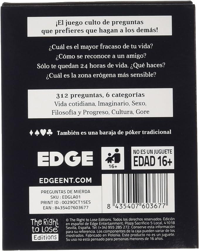 Edge Entertainment- Preguntas de Mierda, Color (EDGLA01): Amazon.es: Juguetes y juegos