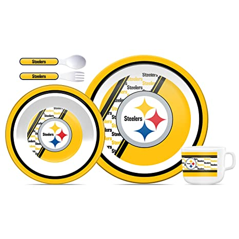 Superieur Duck House NFL Pittsburgh Steelers Childrenu0027s Dinner Set