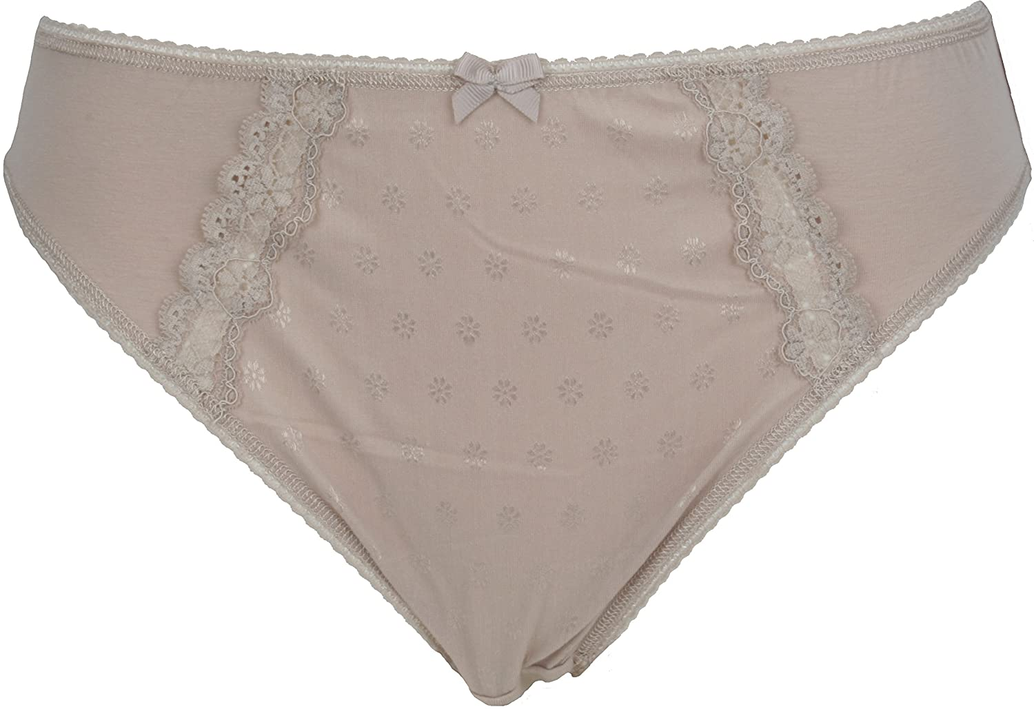 Ex Store Cotton and Lace No VPL High Leg Knickers