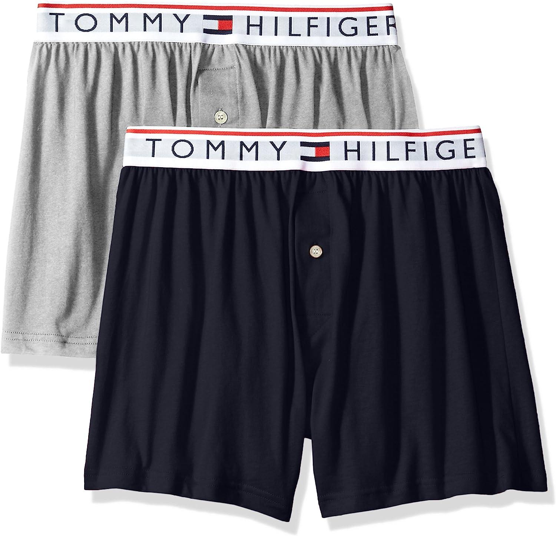 Tommy Hilfiger Mens Cotton Modern Essential Logo Woven Boxer Blue Size X-Large