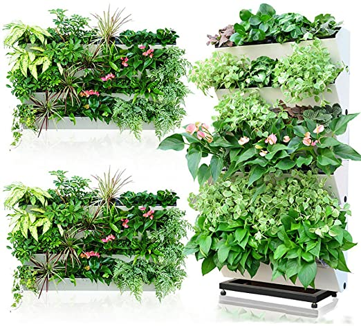 Sungmor - Sofisticada maceta vertical para jardín, con autorriego, macetas de pared y de balcón, 57 cm