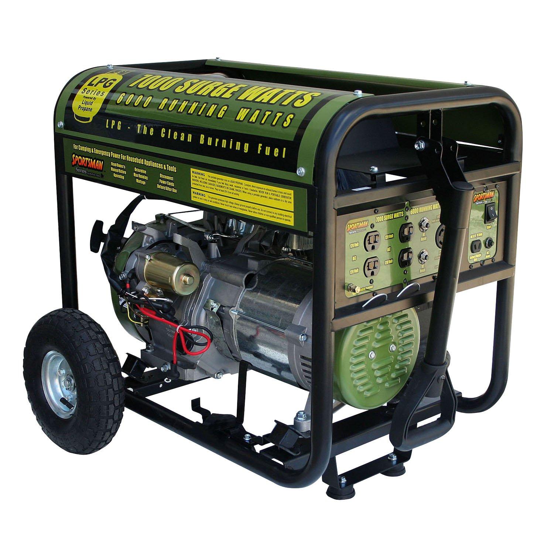 Sportsman GEN7000LP, 6000 Running Watts/7000 Starting Watts, Propane Powered Portable Generator
