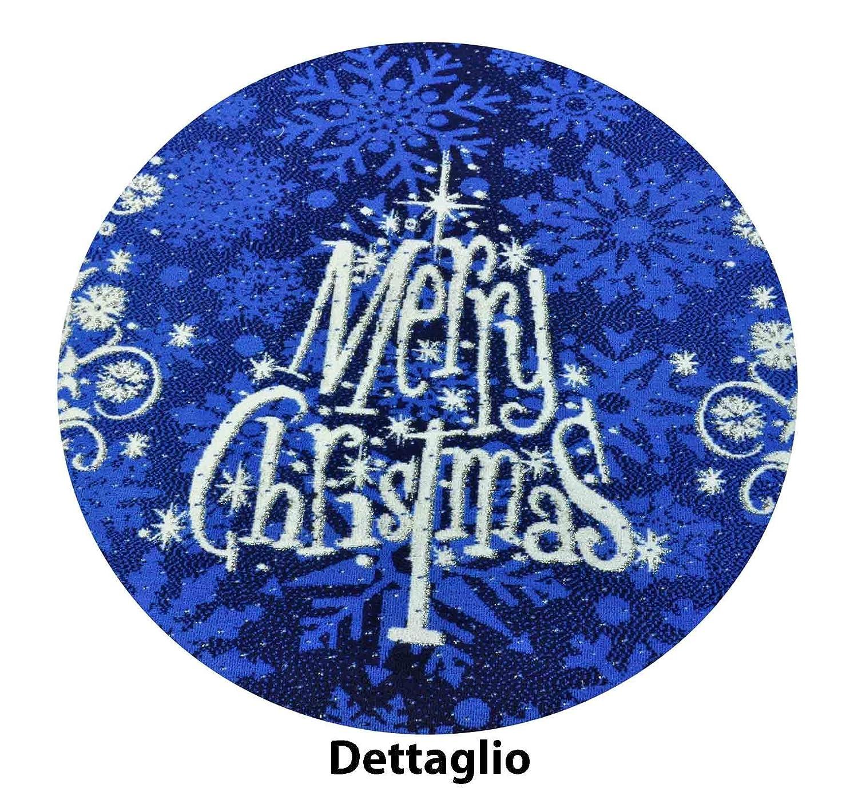 CASA TESSILE Tappeto Merry Christmas passatoia 67x105 cm. - Blu Px