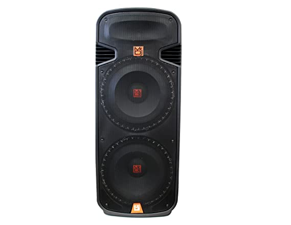 Amazon.com: Mr. Dj PBX6100S Dual 15-Inch 2-Way 5000-Watt Passive Speaker with Built-In Accent LED Lighting: Musical Instruments