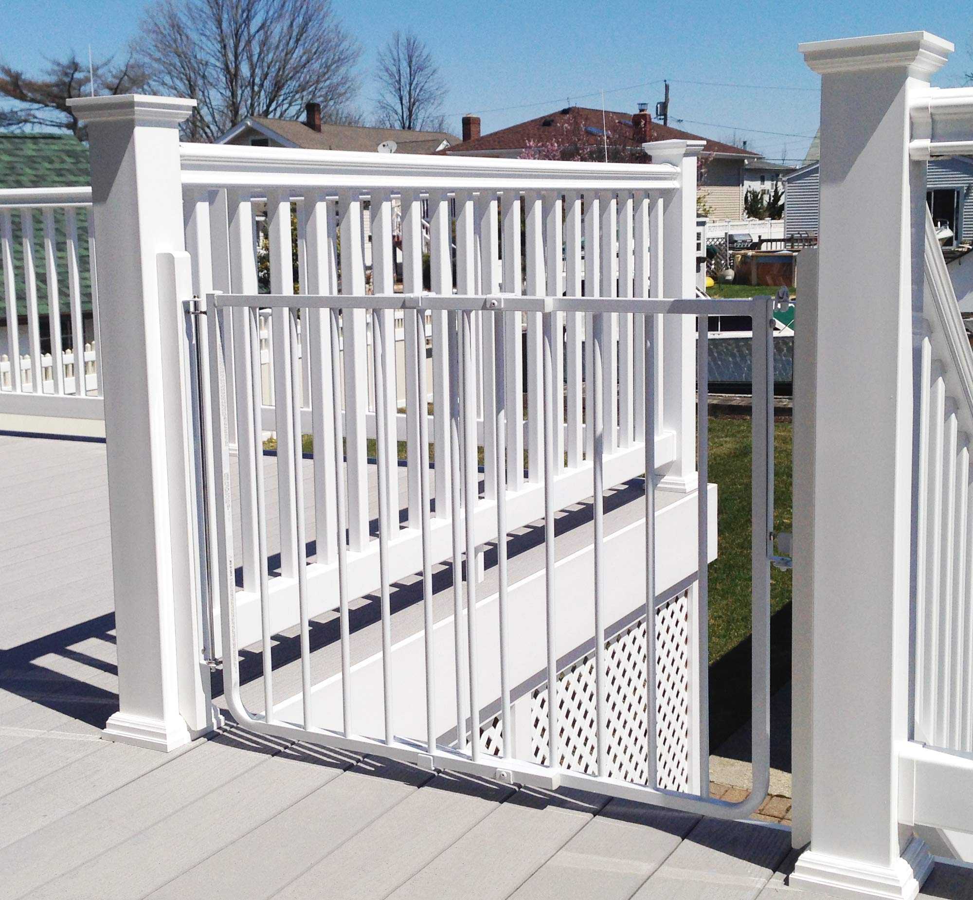 Cardinal Gates Stairway Special Outdoor Child Safety Gate /Model:SS30-ODWH-C /Designed for top of stairway use / Color: White by Cardinal Gates (Image #2)