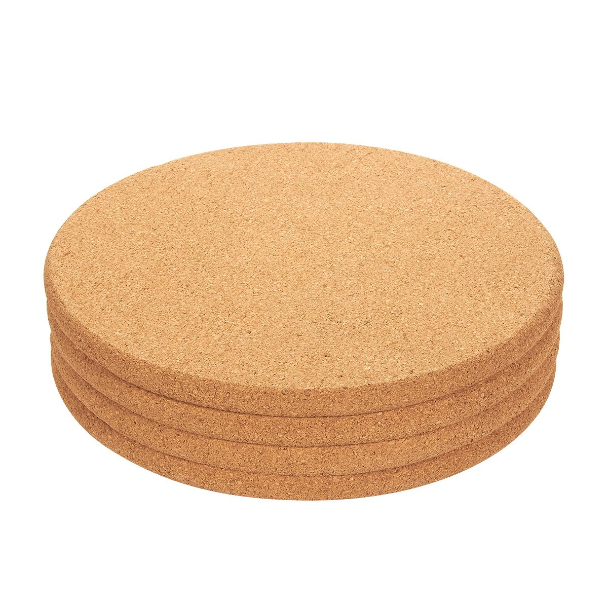 Juvale 4-Pack Cork Trivet Set - Round Corkboard Placemats Kitchen Hot Pads for Hot Pots, Pans, and Kettles, 9 x 9 x 0.5 Inches by Juvale