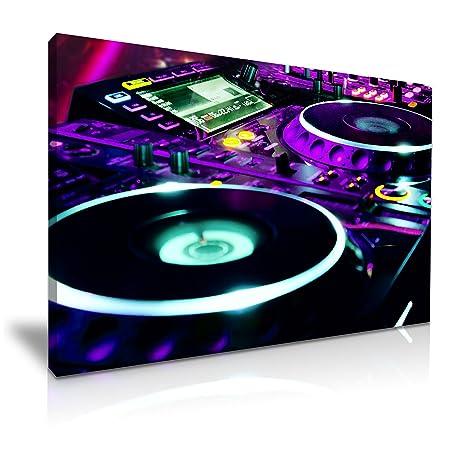 Tocadiscos DJ Mix Club música impresión DE lienzo 76 cm x 50 cm ...