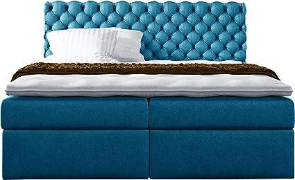 Cama de mirjan24 con somier Masso, cama doble con 2 Buzón Continental cama, cama Americana, núcleo de muelles ensacados, Sobrecolchón, cama de ...