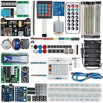 Sourcingmap® Uno R3 Kit proyecto conseil1602 LCD Buzzer servomotor para Arduino Sensor