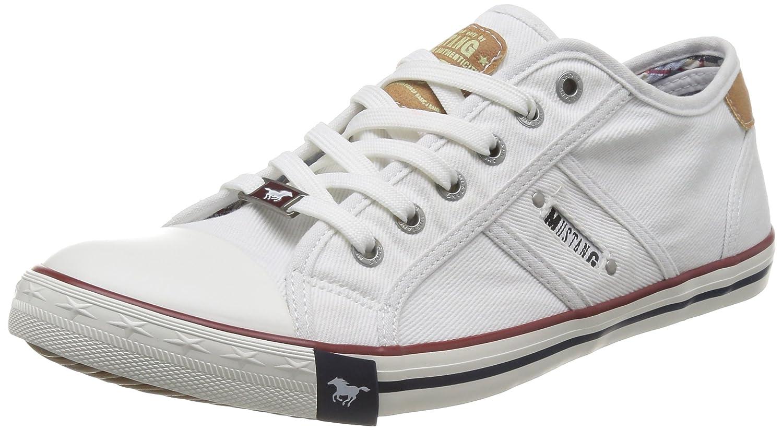 Mustang 4058-305, Zapatillas Hombre, Blanco (1 Weiß), 44 EU