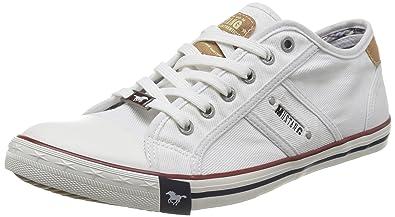 Mustang 4058-305, Zapatillas Hombre, Blanco (1 Weiß), 42 EU: Amazon.es: Zapatos y complementos
